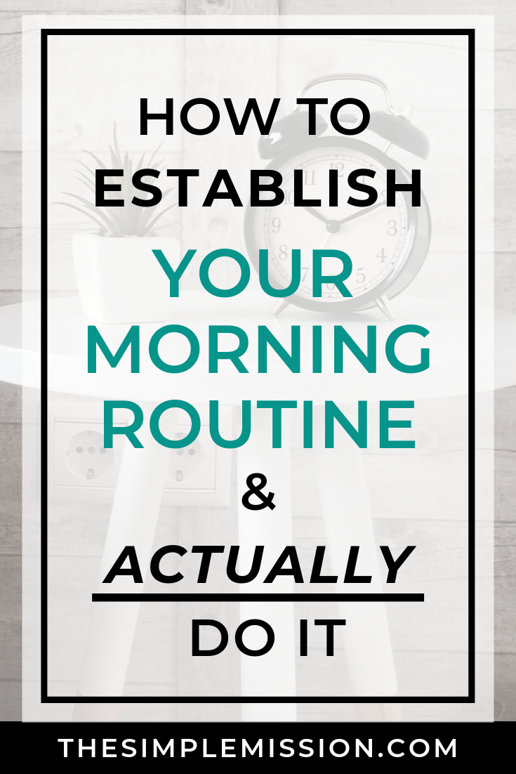 Starting a morning routine (or any kind of routine) can be so difficult to do, but it can be done. Join the conversation as we share what our morning routine was like before we first MET each other. You might be surprised on what you might hear.  Then, we share about our morning routine when we first got married…which was almost non-existent. We had a hard time adjusting to married life, and that carried into creating our routines. We realized in order to start a morning routine, we needed to keep things simple and get our priorities aligned with the Word of God.
