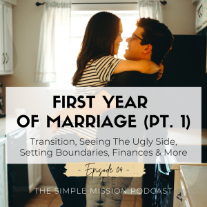 Part ONE consists of: preparing for marriage, first year of marriage is a year of transition and learning one another, being seen fully, COMMUNICATION, blessings of marriage, truly turn from your spouse's past, conflict is unavoidable but how you fight is important, setting boundaries with opposite sex & social media, healthy confrontation, finances, the little things matter, and more.