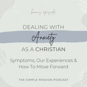 Yep, we are going to bring up anxiety, the symptoms, our history, and how to move forward. However, we know that in order to have a breakthrough and move forward in life, we have to begin by first talking about anxiety. We simply want to share our experience and give advice where we can with anxiety through a Christian perspective.