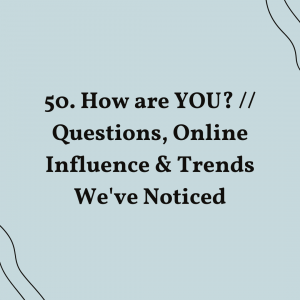 """""""How are YOU?"""" In the day and age of being busy or always online, we realize that we do not practice on taking a pause and reflecting."""