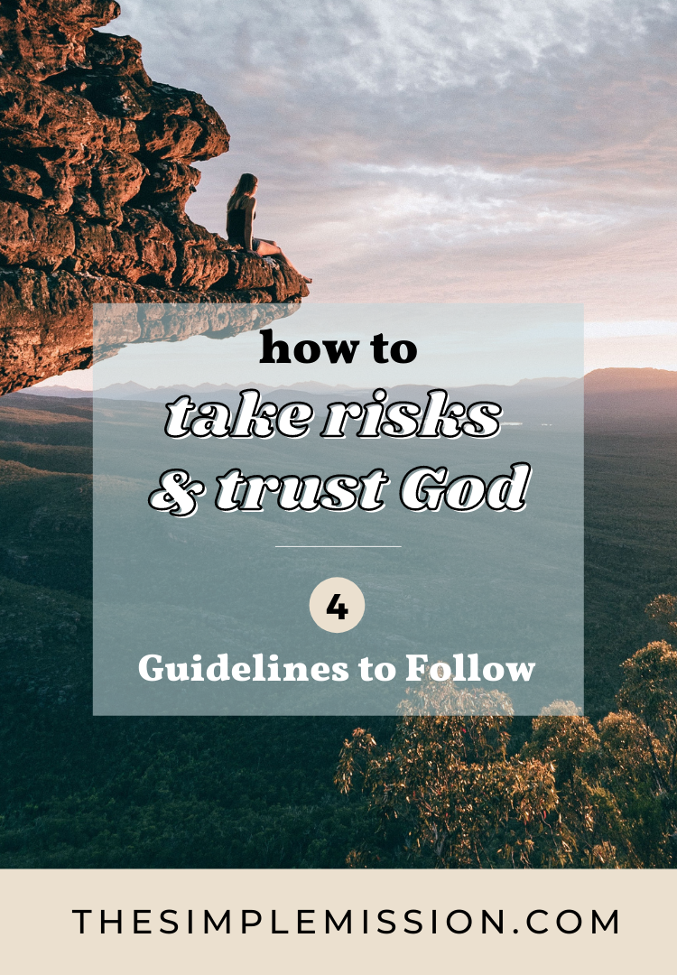 we are here to share the process of taking risks, how to take risks FOR God, how to take risks little by little, and 4 guidelines to KNOW when to take the risk or NOT.