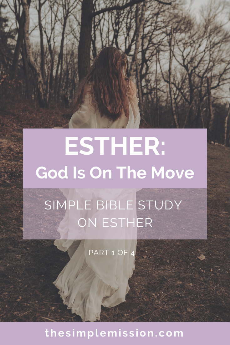 Esther is a short book in the Old Testament, written by an anonymous author, and is an overall story of how the Jews were rescued by Esther and Mordecai, her cousin. But, guess what? God is never mentioned throughout the whole book, not even once. However, as you read + study Esther, you will begin to see God working behind the scenes and is a part of every situation, circumstance, and event. God is STILL on the move.