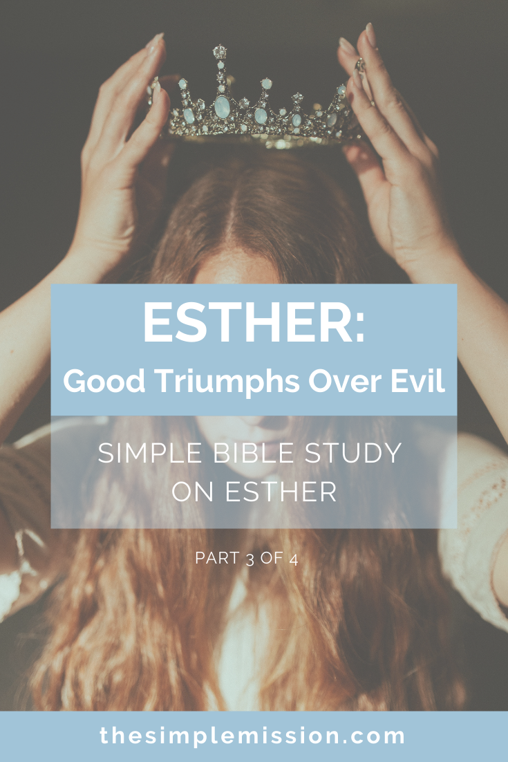We are now at part 3 of 4 for the Esther Bible Study & we are learning so much about God saving His people through Esther!