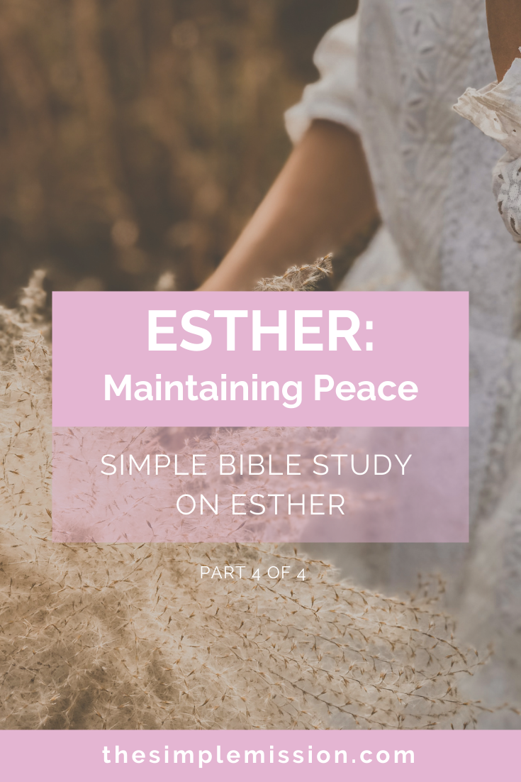 I pray that each week of Esther and every week after that, you truly change us, mold us, and fit us into who you created us to be for Your Kingdom. AMEN.  Now, let's go over part 4, the last part of the Esther Bible Study. Let's get into it!